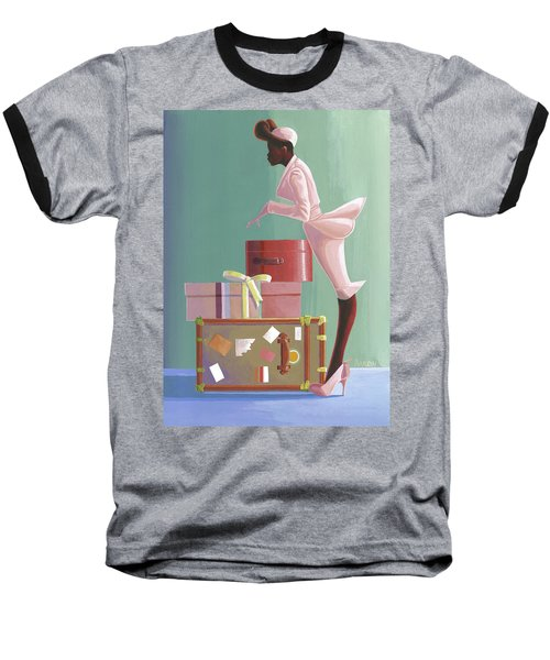 Where Is He? Baseball T-Shirt