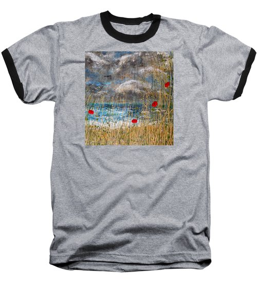 Where Poppies Blow Detail Baseball T-Shirt