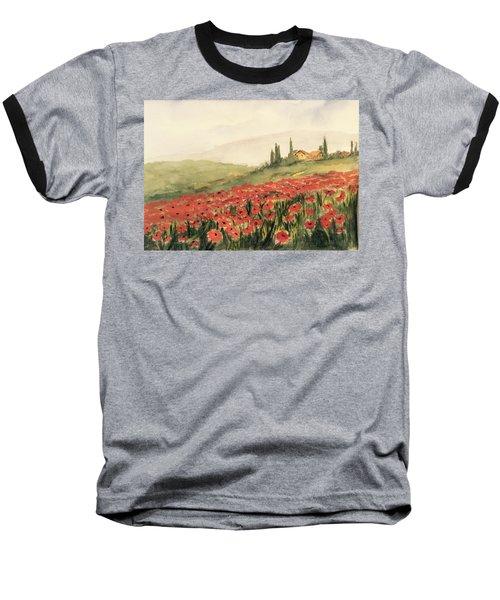 Where Poppies Grow Baseball T-Shirt