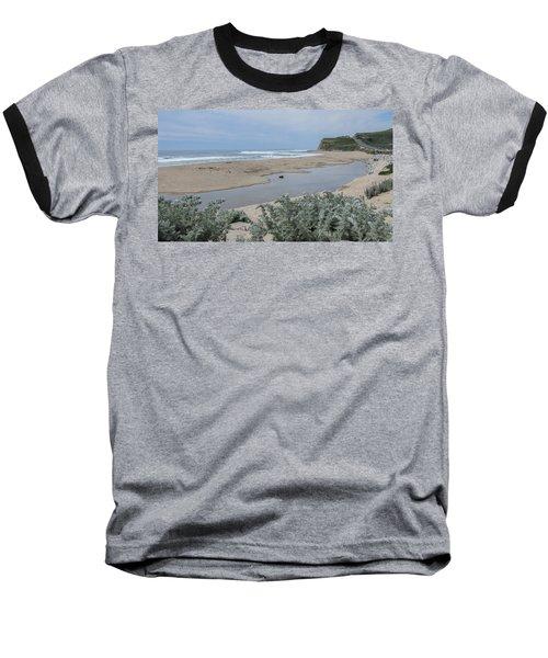 Where Scott Creek Meets The Ocean Baseball T-Shirt by Mark Barclay