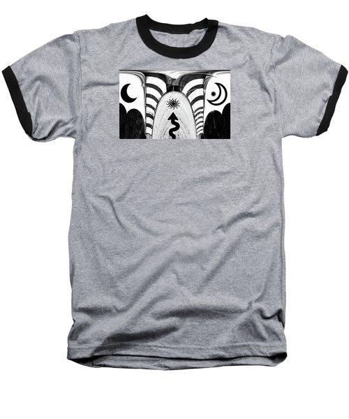 Where The Arrow Points Baseball T-Shirt