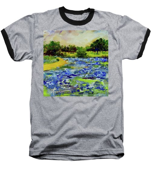 Where The Beautiful Bluebonnets Grow Baseball T-Shirt