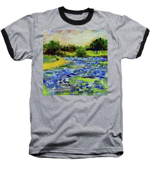 Where The Beautiful Bluebonnets Grow Baseball T-Shirt