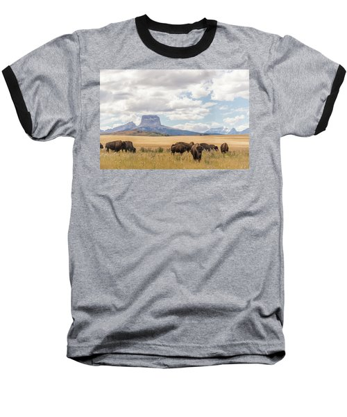 Where The Buffalo Roam Baseball T-Shirt