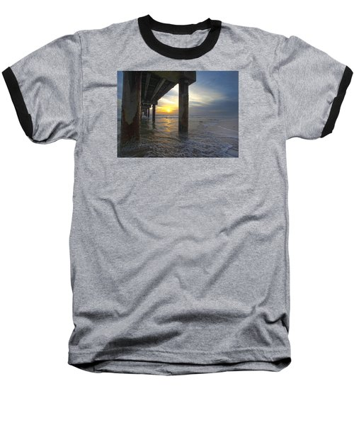 Where The Sand Meets The Surf Baseball T-Shirt by Robert Och