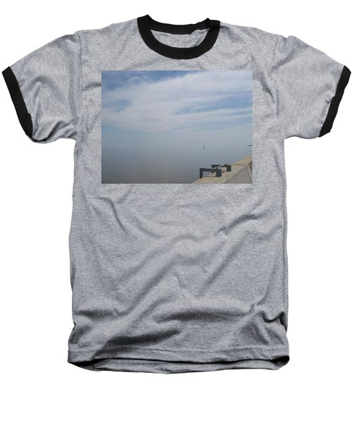 Baseball T-Shirt featuring the photograph Where Water Meets Sky by Mary Mikawoz