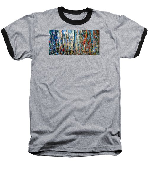 Where Wild Roses Bloom - Large Work Baseball T-Shirt