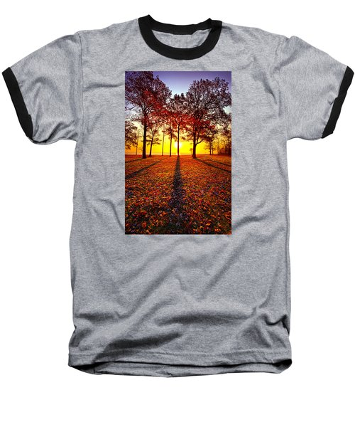 Where You Have Been Is Part Of Your Story Baseball T-Shirt by Phil Koch