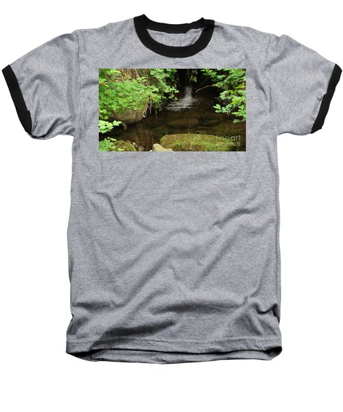 Baseball T-Shirt featuring the painting Where's The Fish? by Rod Jellison