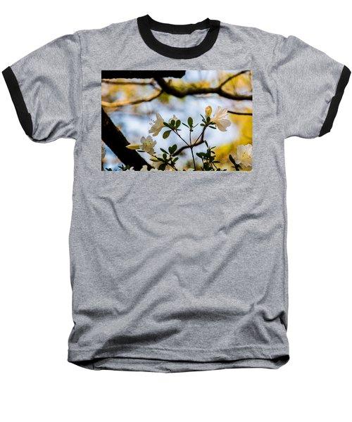 Whie Azaleas Under A Dogwood Tree Baseball T-Shirt