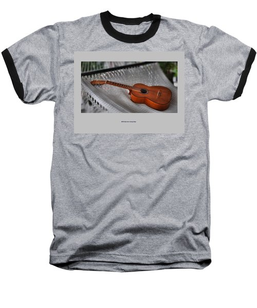 While My Guitar Gently Sleeps Baseball T-Shirt by Jim Walls PhotoArtist
