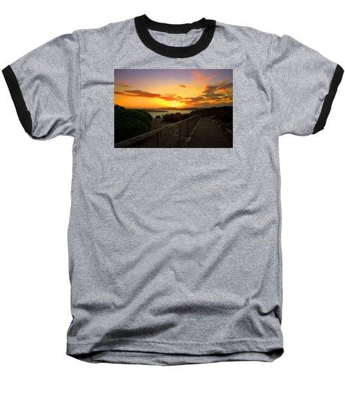 Baseball T-Shirt featuring the photograph While You Walk by Miroslava Jurcik