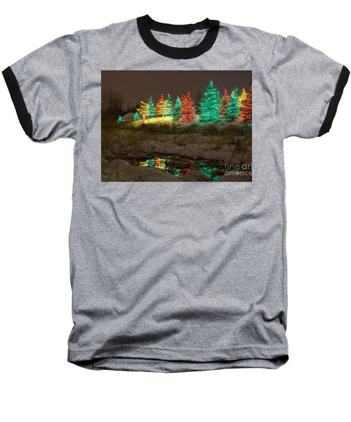 Whimsical Christmas Lights Baseball T-Shirt