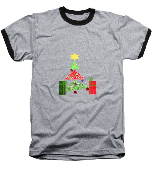 Whimsical Christmas Tree Baseball T-Shirt