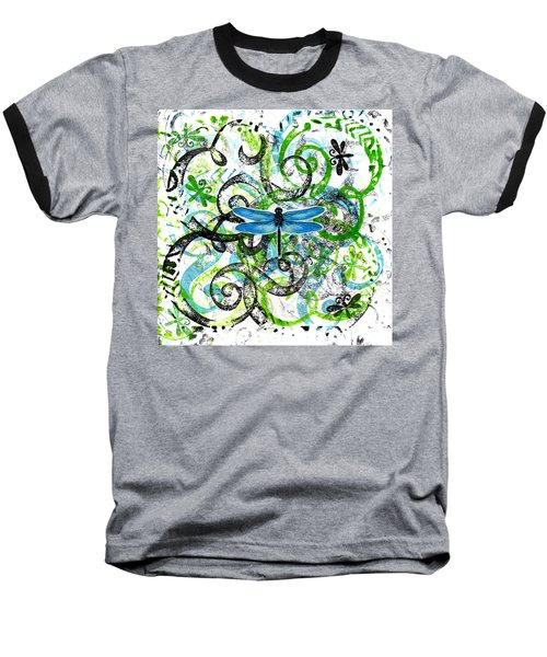 Whimsical Dragonflies Baseball T-Shirt