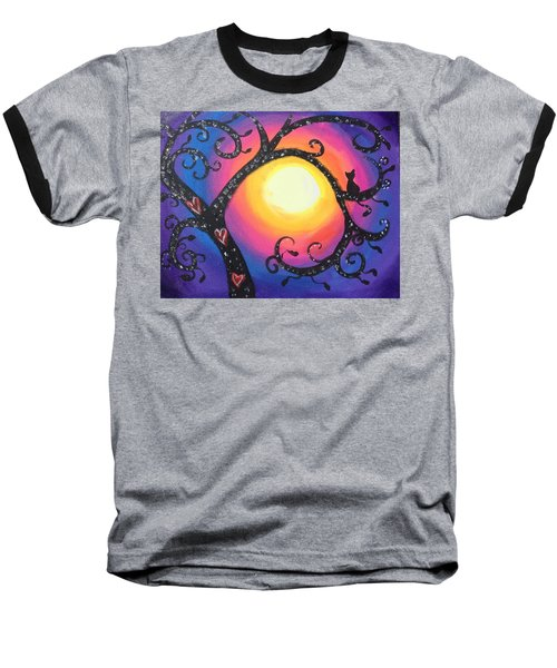 Whimsical Tree At Sunset Baseball T-Shirt