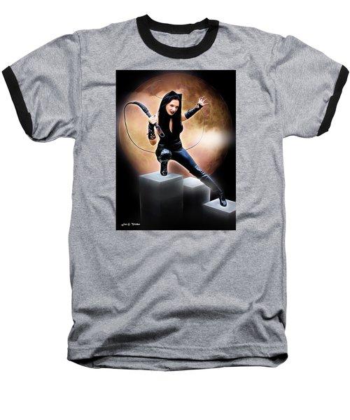 Whip Of The Feline Fatale Baseball T-Shirt