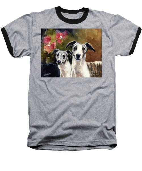 Whippets Baseball T-Shirt by Molly Poole