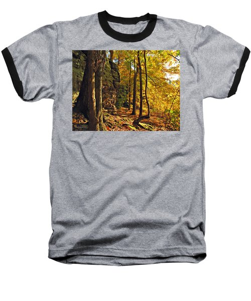 Baseball T-Shirt featuring the photograph Whipp's Ledges In Autumn by Joan  Minchak