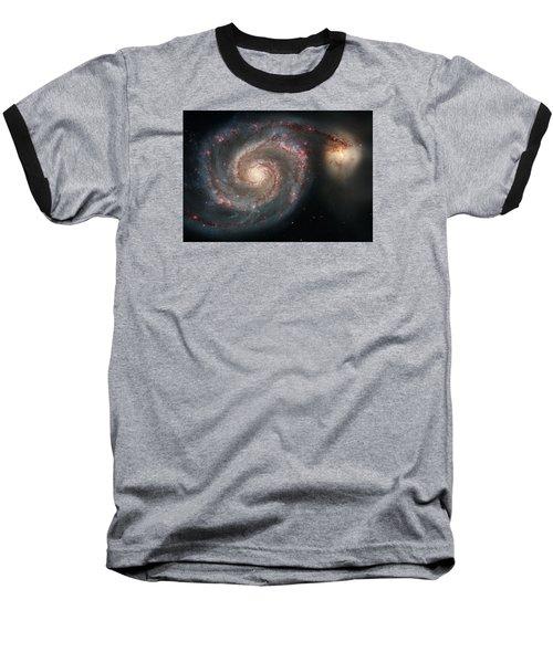 Whirlpool Galaxy And Companion  Baseball T-Shirt