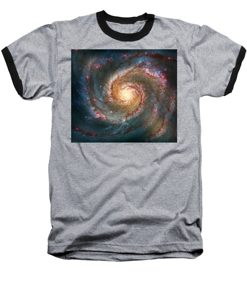 Whirlpool Galaxy  Baseball T-Shirt