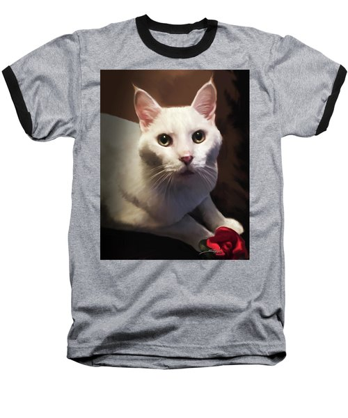 Whiskers And Rose Baseball T-Shirt