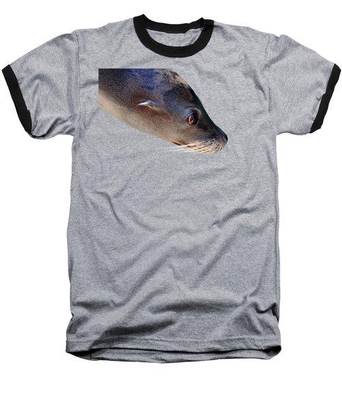 Whiskers Baseball T-Shirt by Debbie Oppermann