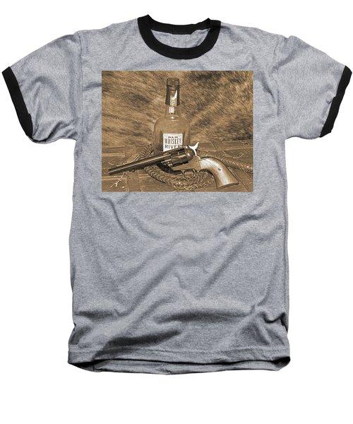 Whiskey And A Gun Baseball T-Shirt
