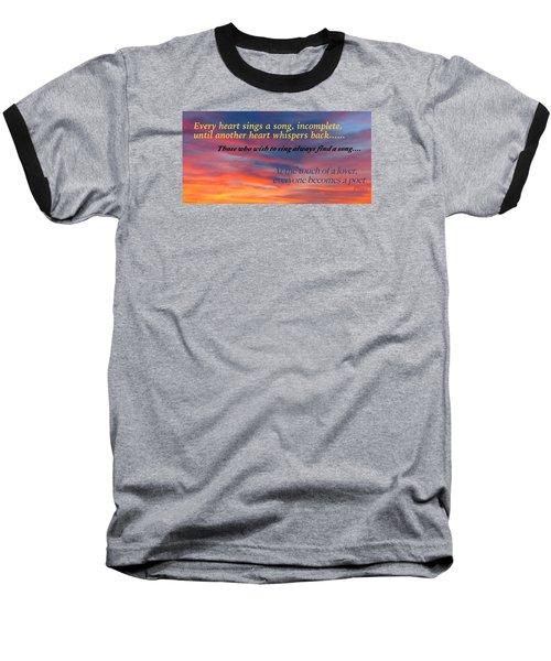 Whisper Baseball T-Shirt by David Norman