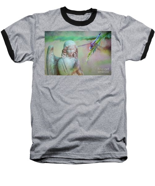 Whisper Of Angel Wings Baseball T-Shirt by Bonnie Barry