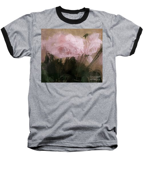 Whisper Of Pink Peonies Baseball T-Shirt by Alexis Rotella