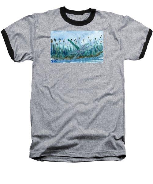 Whispering Cattails Baseball T-Shirt