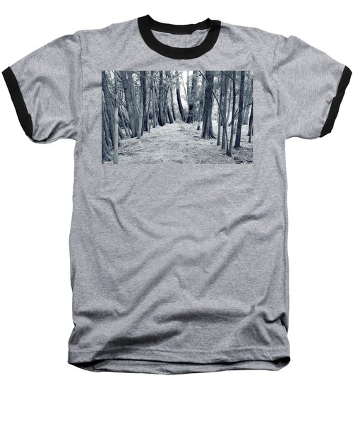 Baseball T-Shirt featuring the photograph Whispering Forest by Wayne Sherriff