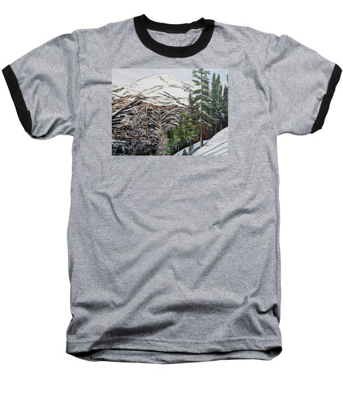 Baseball T-Shirt featuring the painting Whispering Pines by Marilyn  McNish