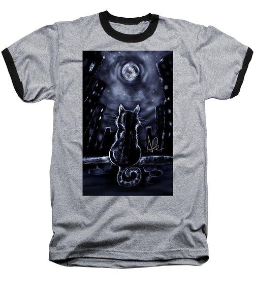 Whispering To The Moon Baseball T-Shirt