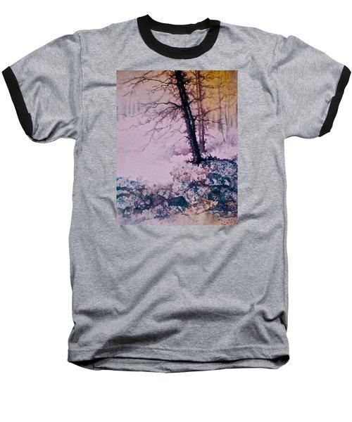 Whispers In The Fog  Partii Baseball T-Shirt by Carolyn Rosenberger