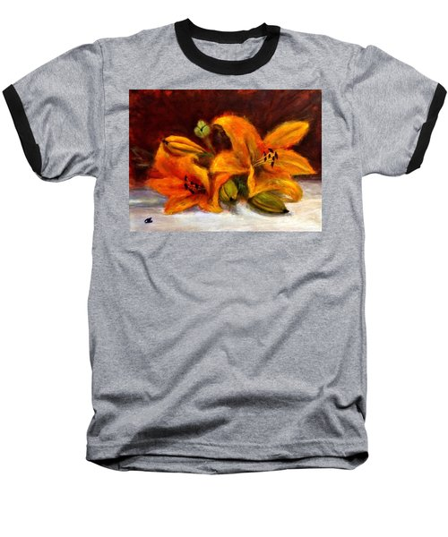 Baseball T-Shirt featuring the painting Whispers Of Love..2 by Cristina Mihailescu