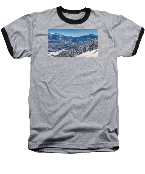 Whistler Blackcomb Winter Wonderland Baseball T-Shirt