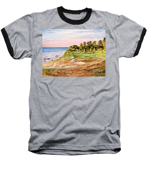 Whistling Straits Golf Course 17th Hole Baseball T-Shirt by Bill Holkham