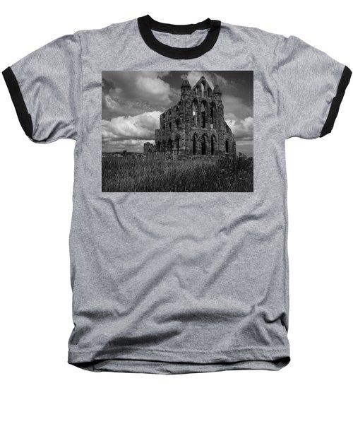 Whitby Abbey, North York Moors Baseball T-Shirt