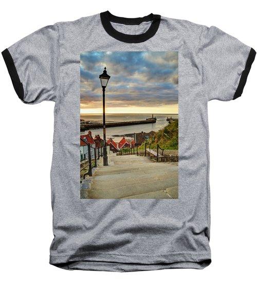 Whitby Sun Set Baseball T-Shirt