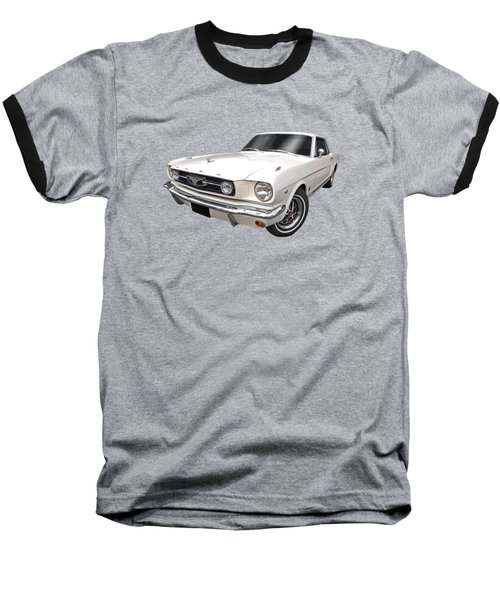 White 1966 Mustang Baseball T-Shirt