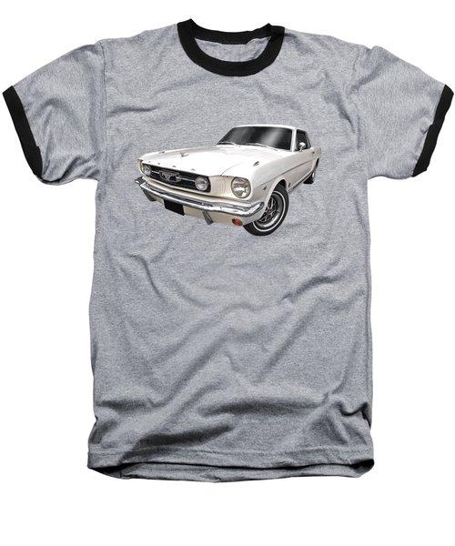 White 1966 Mustang Baseball T-Shirt