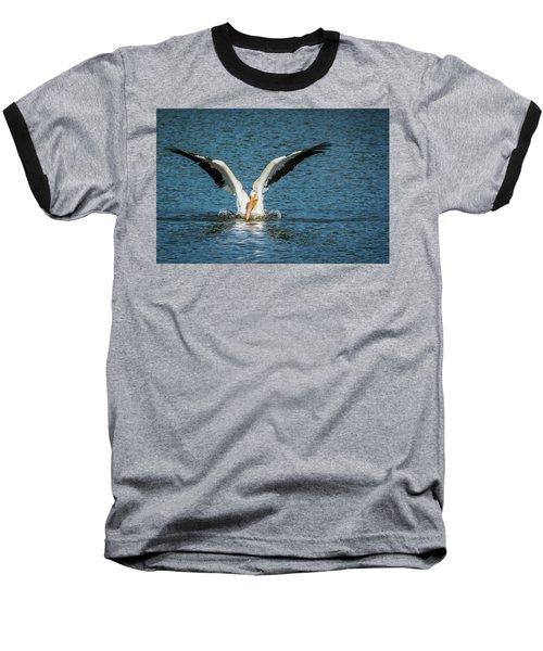 White American Pelican Baseball T-Shirt by Pamela Williams