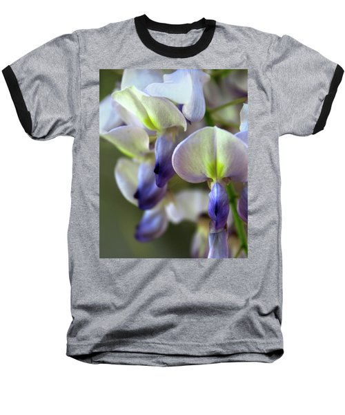 Wisteria White And Purple Baseball T-Shirt