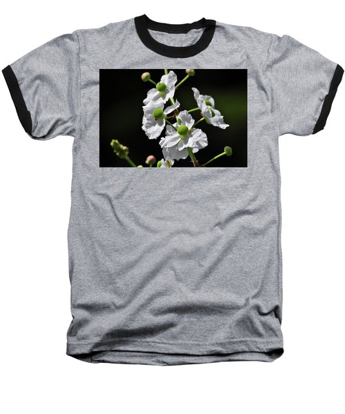 White And Green Wildflowers Baseball T-Shirt