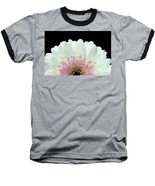 White And Pink Daisy Baseball T-Shirt