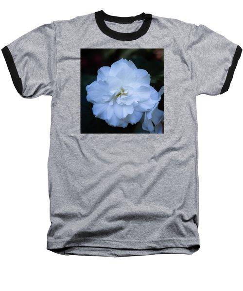 White As Snow Begonia Baseball T-Shirt