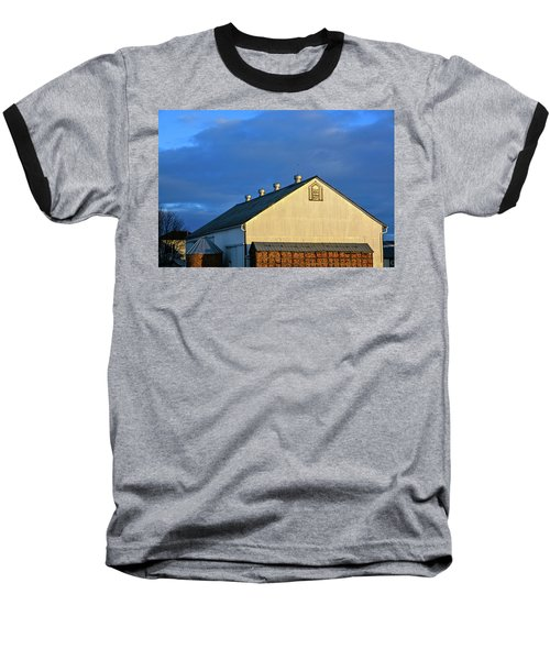 White Barn At Golden Hour Baseball T-Shirt