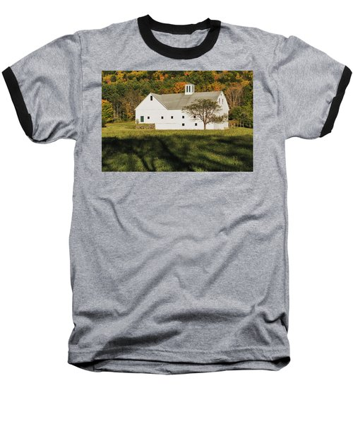 White Barn In Color Baseball T-Shirt
